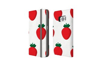 For Samsung Galaxy S8 Case Wallet Protective Cover Strawberry