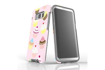 For Samsung Galaxy S8 Case, Armour Tough Cover, Cupcakes
