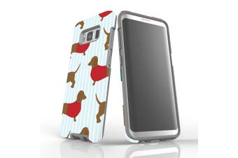 For Samsung Galaxy S8 Case, Armour Tough Cover, Dachshunds