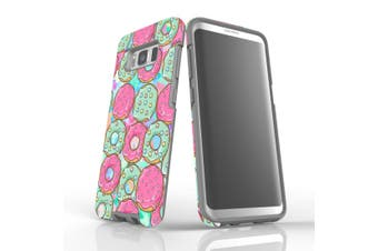 For Samsung Galaxy S8 Case, Armour Tough Cover, Donuts
