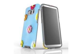 For Samsung Galaxy S8 Case, Armour Tough Cover, Flowerful