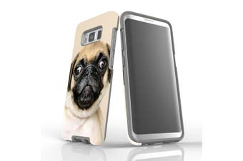 For Samsung Galaxy S8 Case, Armour Tough Cover, Pug