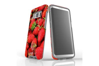 For Samsung Galaxy S8 Case, Armour Tough Cover, Strawberries
