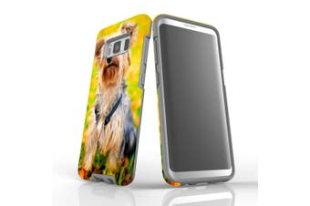 For Samsung Galaxy S8 Case, Protective Back Cover, Yorkie