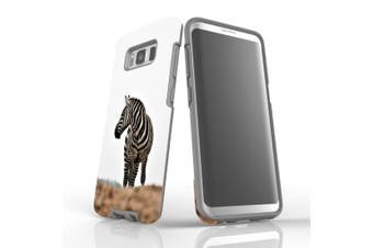 For Samsung Galaxy S8 Case, Protective Back Cover, Zebra