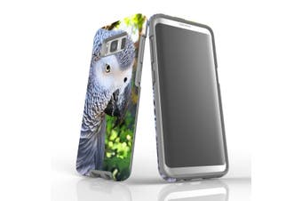 For Samsung Galaxy S8 Case Armour Cover, African Grey