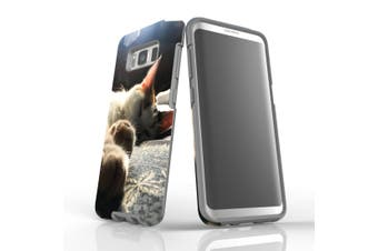 For Samsung Galaxy S8 Case Armour Cover, Cozy Cat