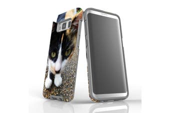 For Samsung Galaxy S8 Case Armour Cover, Curious Cat