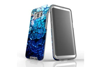 For Samsung Galaxy S8 Case Armour Cover, Blue Mirror