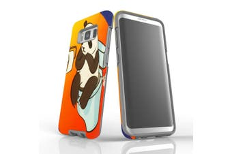 For Samsung Galaxy S8 Case Armour Cover, Panda's Toilet