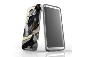 For Samsung Galaxy S8 Case Armour Cover, Staffy Portrait