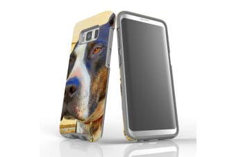 For Samsung Galaxy S8 Case Armour Cover, Sceptical Staffy