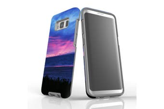 For Samsung Galaxy S8 Case Armour Cover, Sunset at the Beach