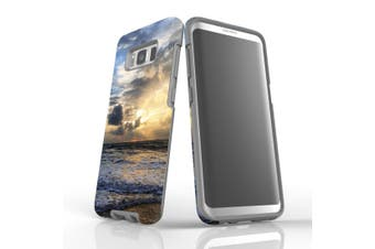 For Samsung Galaxy S8 Case Armour Cover, Wavy Sunset