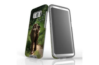 For Samsung Galaxy S8 Case Armour Cover, Running Elephant