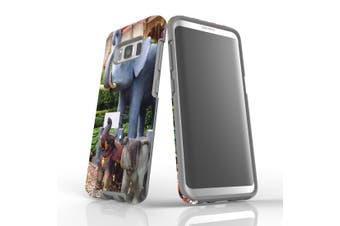 For Samsung Galaxy S8 Case Armour Cover, Elephant Statues