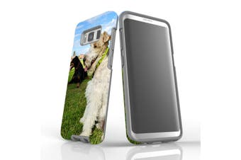 For Samsung Galaxy S8 Case Armour Cover, Dogs at the Park