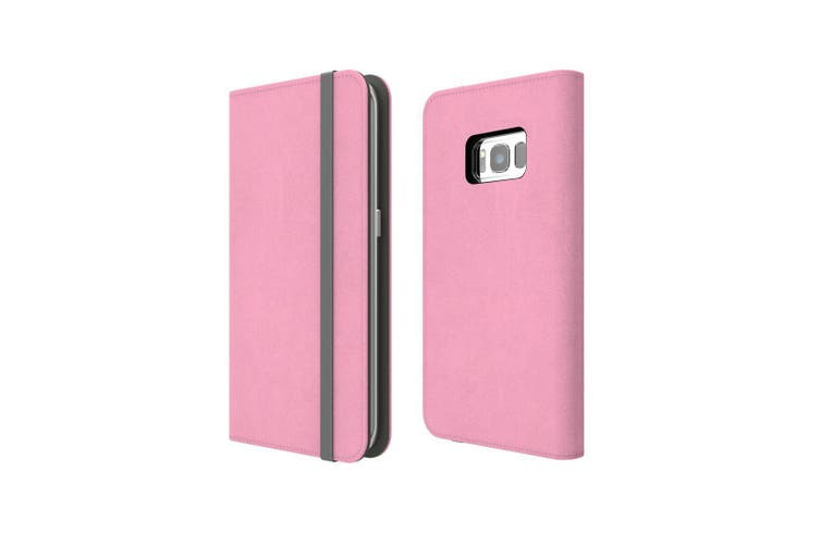 For Samsung Galaxy S8+ Plus Case Wallet Protective Cover Pink