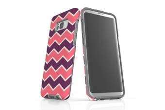 For Samsung Galaxy S8 Plus Protective Case, Zigzag Pink Purple