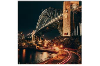 Sydney Harbour Bridge, Wooden Wall Art Square, Home Wall Decor Print
