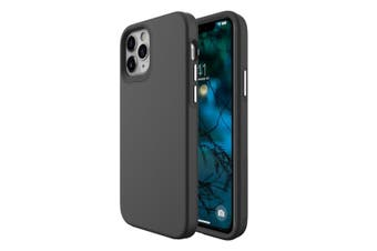 For iPhone 12 Pro/12 Case, Shockproof Protective Cover Black