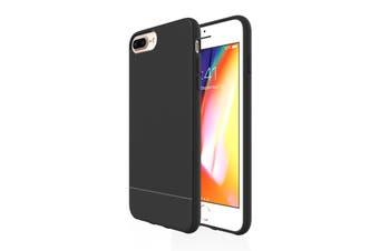 For iPhone 8 Plus, 7 Plus, 6 Plus & 6S Plus Case, Black Snap Slim Armour Cover