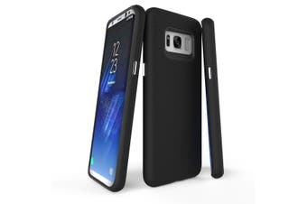 For Samsung Galaxy S8 Case, Black Armour Protective Durable Slim Phone Cover