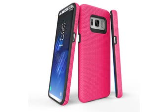 For Samsung Galaxy S8 Case, Pink Armour Protective Durable Slim Phone Cover