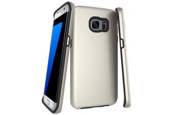 For Samsung Galaxy S7 EDGE Case  Gold Armor Shockproof Protective Phone Cover