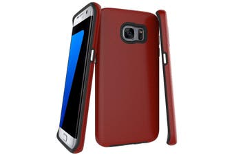For Samsung Galaxy S7 EDGE Case  Red Armor Shockproof Protective Phone Cover