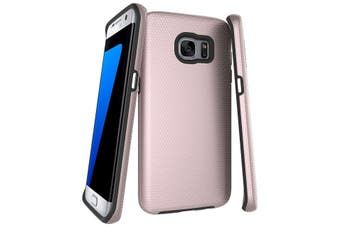 For Samsung Galaxy S7 EDGE Case  Rose Gold Armor Shockproof Protective Cover