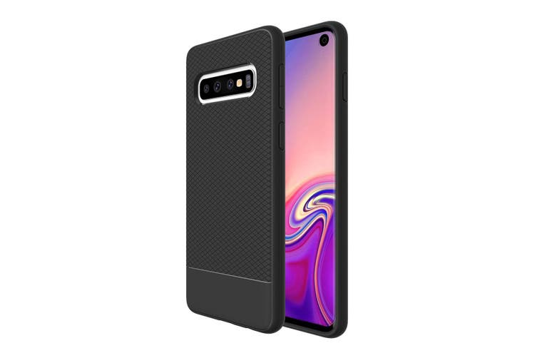 For Samsung Galaxy S10 Armour Case, Snap Black Armor Shock Proof Slim Cover