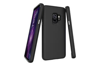 For Samsung Galaxy S9 Case, Black Armor Shockproof Protective Slim Phone Cover