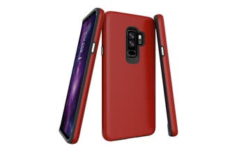 For Samsung Galaxy S9+ PLUS Case, Red Armor Shockproof Protective Phone Cover