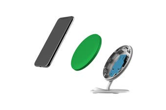 QI Wireless Charger For iPhone 11 Samsung Galaxy S20+ S20 Ultra Note 10+ Green