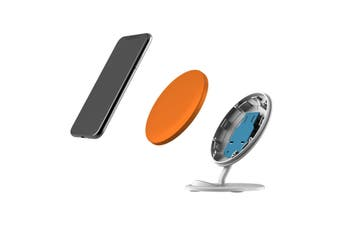QI Wireless Charger For iPhone 11 Samsung Galaxy S20+ S20 Ultra Note 10+ Orange