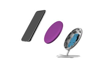 QI Wireless Charger For iPhone 11 Samsung Galaxy S20+ S20 Ultra Note 10+ Purple