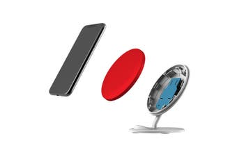 QI Wireless Charger For iPhone 11 Samsung Galaxy S20+ S20 Ultra Note 10+ Red