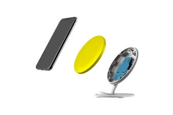 QI Wireless Charger For iPhone 11 Samsung Galaxy S20+ S20 Ultra Note 10+ Yellow