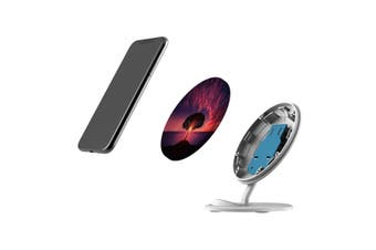QI Wireless Charger For iPhone 11 Samsung Galaxy S20+ S20 Ultra Note 10+ Sunset