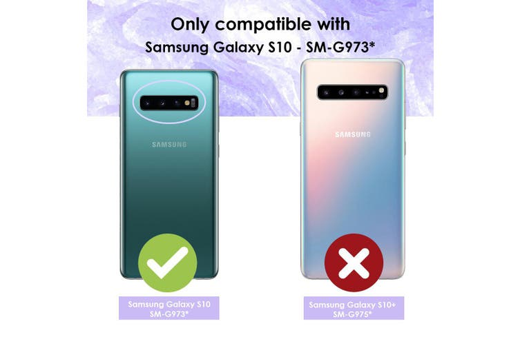 For Samsung Galaxy S10 Case, Mint Green Armour TPU & PC Grip Back Cover