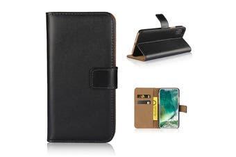For iPhone XS,X Wallet Case,Elegant Slim Leather Cover Card Holder,Black