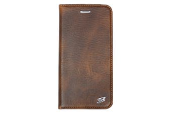 For iPhone 8 PLUS,7 PLUS Wallet Case,Fierre Shann Genuine Cow Leather Cover