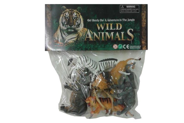 Wild Jungle Animals Toy Figures 6pk