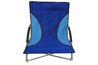 Outdoor Chair with Foam Arms in Blue