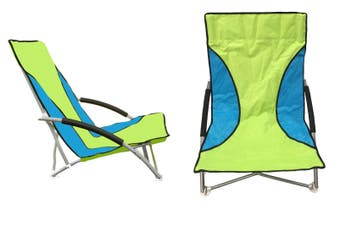 Outdoor Chair with Foam Arms in Green