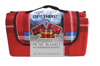 Waterproof Fleece Picnic Blanket 1.5m x 1.3m