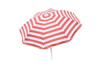 Beach Umbrella with Tilt in Red