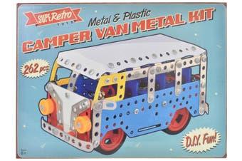 Retro Camper Van Metal Kit