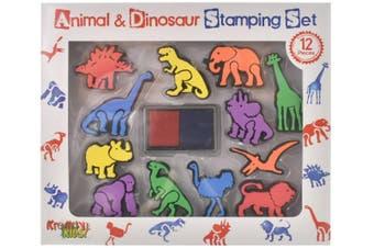 Animal & Dinosaur Stamping Set (12 Pieces)
